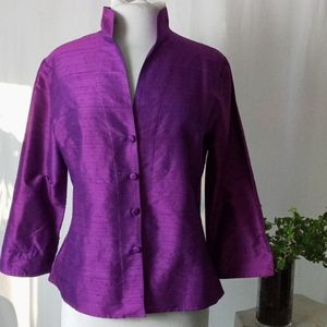 Chris Kellogg Palm Beach magenta iridescent jacket